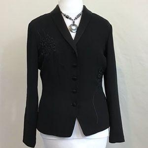 Dana Buchman Embroidered Blazer Size 8
